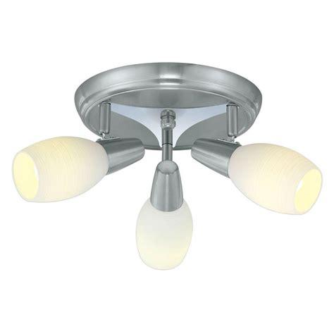 home depot lighting fixture eglo parma 3 matte nickel ceiling lighting fixture