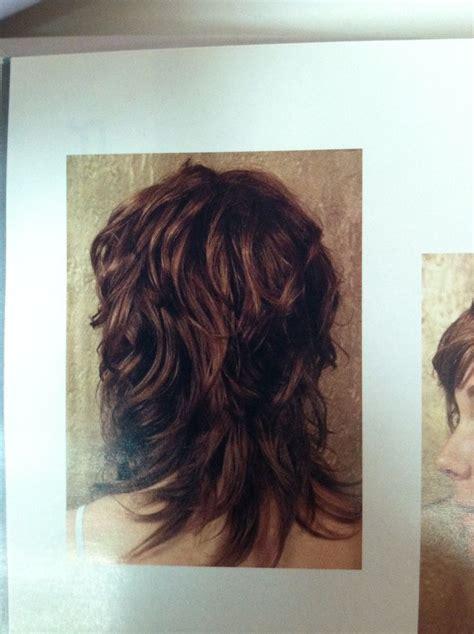 hair with shag back view wavy shag haircut back view curly hair pinterest
