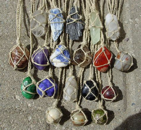 how to make jewelry with gemstones hemp wrapped healing gemstone necklace by lwaite
