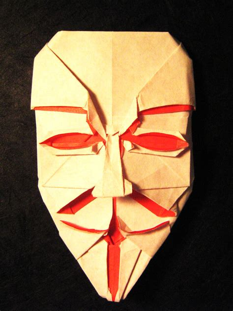 origami fawkes mask origami fawkes mask by lexar on deviantart