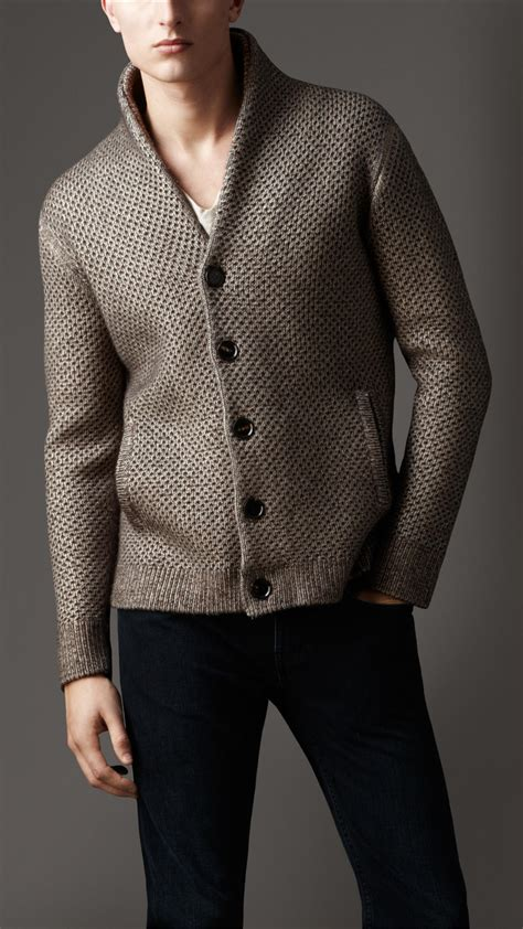 mens knitted cardigan cardigan shawl collar cardigan with buttons