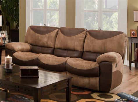 two tone reclining sofa portman reclining sofa in two tone chocolate and saddle