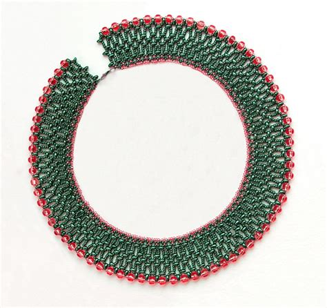 beaded picture patterns free and superduos bead patterns netted collar