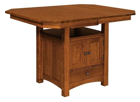 dining table with cabinet amish bassett dining table with storage cabinet