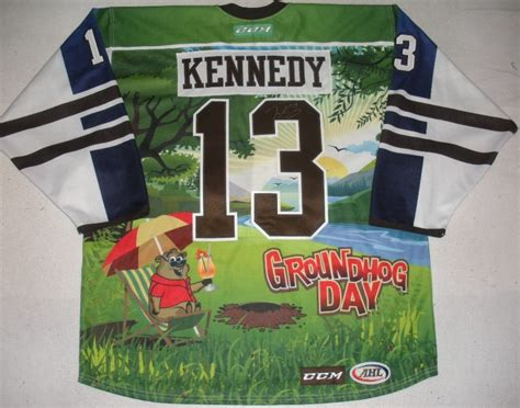 groundhog day auction tim kennedy hershey bears groundhog day autographed