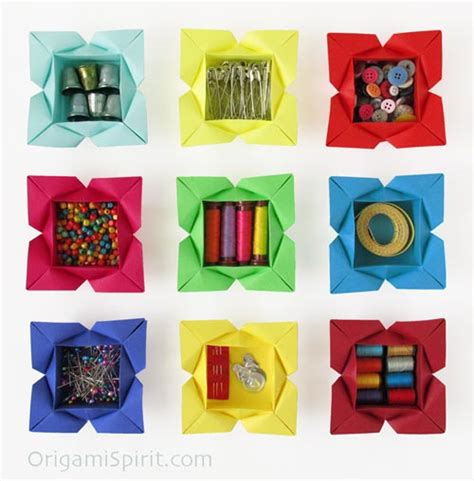 how to make an origami flower box origami petal box a to make