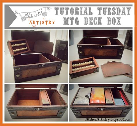 how to make a card deck box atelier artistry tutorial tuesday mtg magic the
