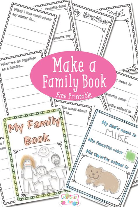 picture books about families family book free printable itsy bitsy