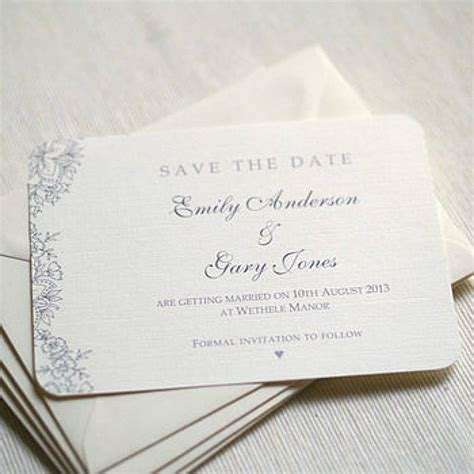 how to make a save the date card vintage lace wedding save the date cards by beautiful