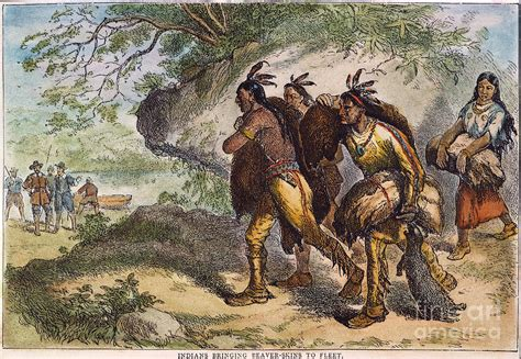 fur trade fur traders 17th c photograph by granger