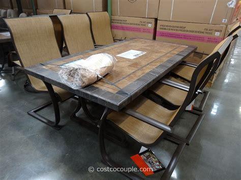 agio international patio furniture agio international 7 sling dining set