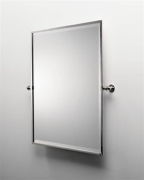 wall bathroom mirror waterworks brass rectangle wall mounted tilting mirror