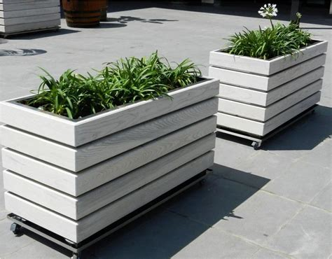 outdoor wooden planters 25 best ideas about wooden planters on wooden