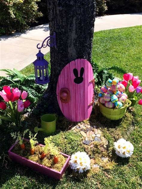 diy outdoor decor 40 outdoor easter decorations ideas to make