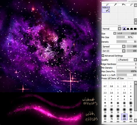 Sai Brush Nebula Galaxy By Nefur Studios On Deviantart