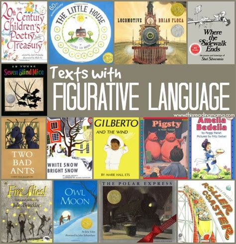picture books to teach figurative language books with figurative language