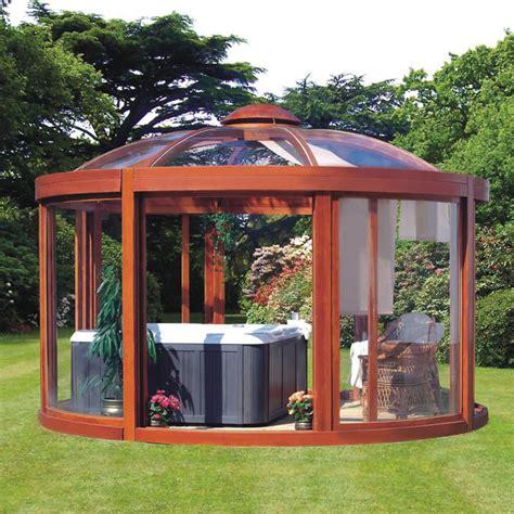 ideas for your backyard the scandinavian backyard gazebo hammacher schlemmer