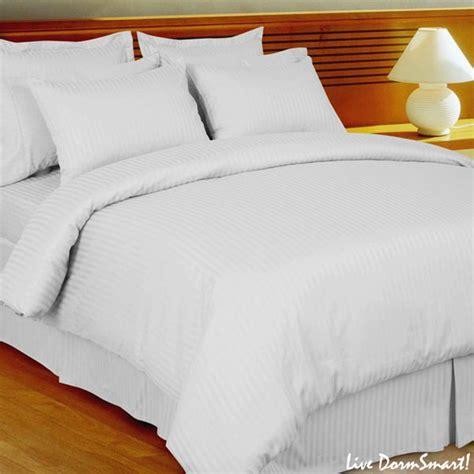white bedding set white stripe xl duvet cover set 100 cotton 300