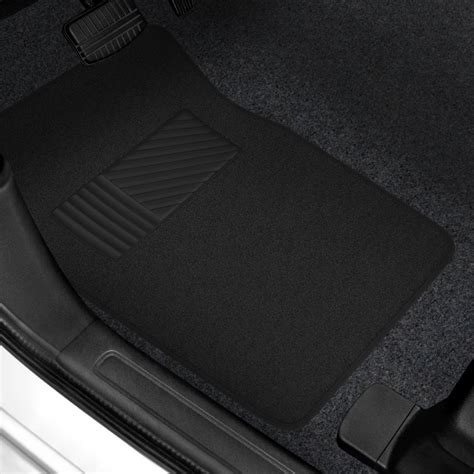 rubber st pad rubber 174 premium carpeted floor mats with heel pad