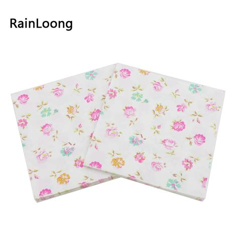 printed tissue paper for decoupage rainloong 2 ply turquoise printed floral paper napkin