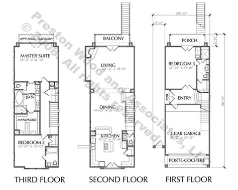 townhome floor plan 3 story townhouse with balcony floor plan