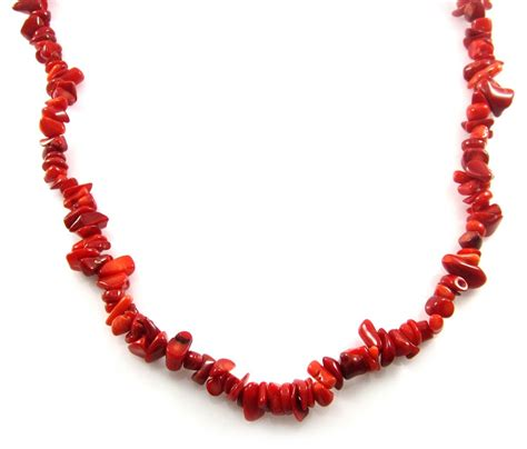 coral for jewelry coral chip 33 quot single strand necklace fashion jewelry