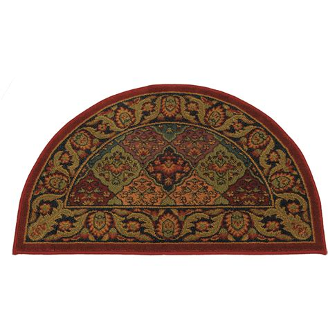 Flame Retardant Rugs by Half Round Burgundy Hearth Rug Fire Resistant Rug