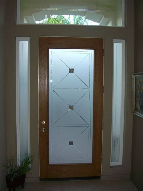 frosted glass for doors custom glass entry sans soucie glass
