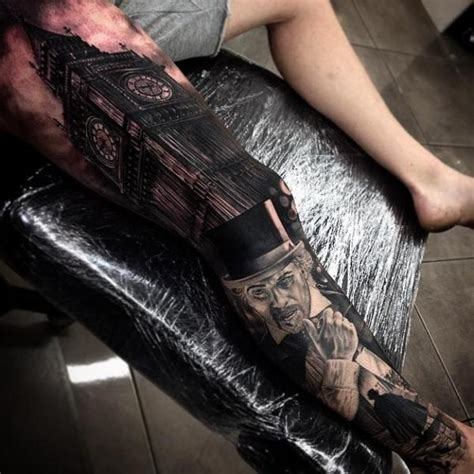 big ben gentleman realistic tattoo by drew apicture best