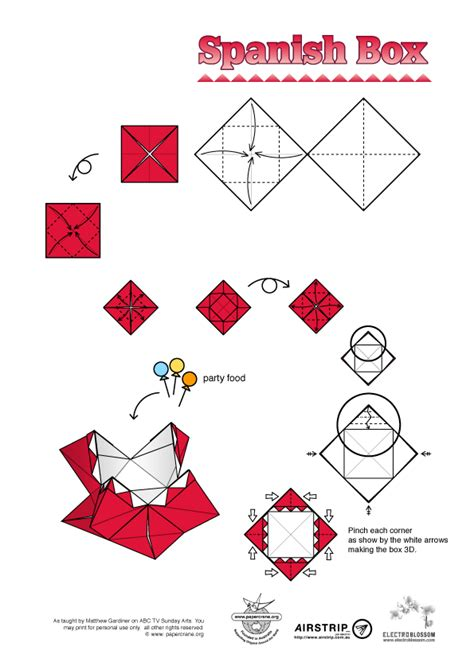 origami pdf origami diagram box