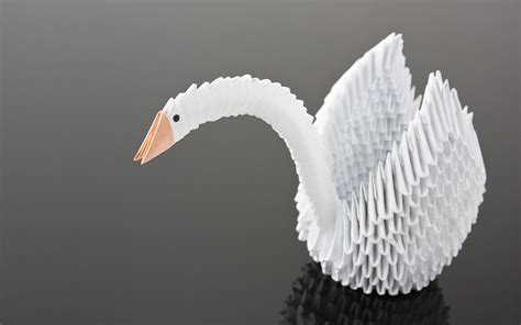 origami swan diy origami wedding accessories