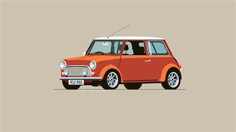 Mini 2 Car Wallpaper by Car Mini Cooper Digital Minimalism Simple