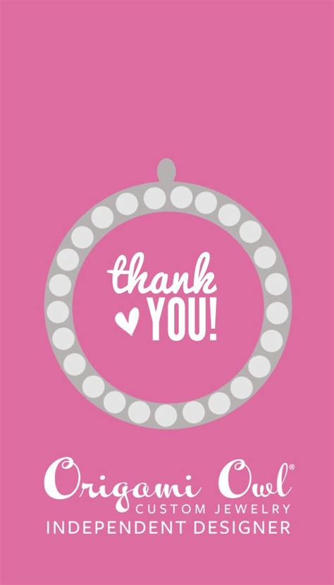thank you origami and thank you origami owl it origami owl