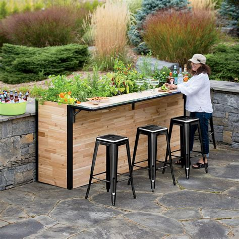 outdoor wooden planters plant a bar wooden outdoor bar and planter the green