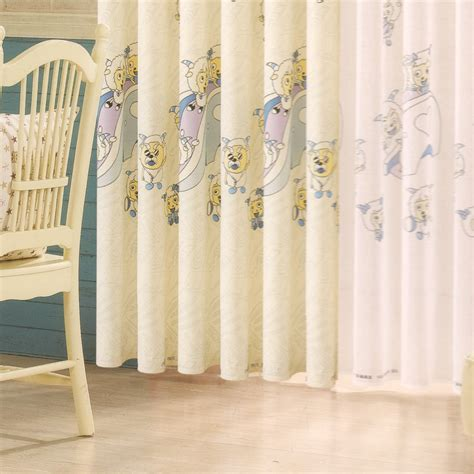 design animal curtains for nursery cotton fabric