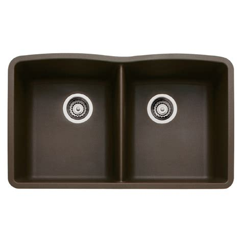 blanco granite kitchen sinks shop blanco 19 25 in x 32 in cafe brown