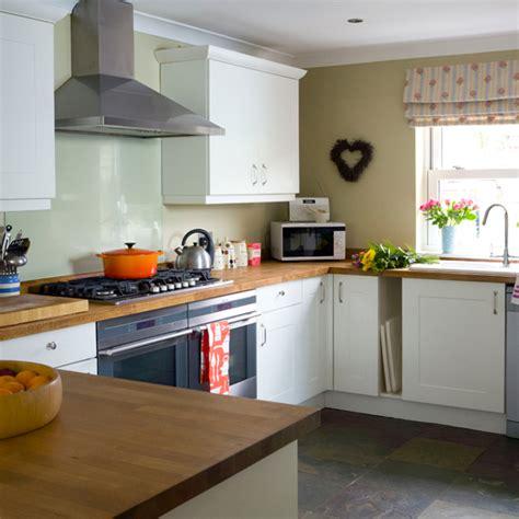 white kitchen ideas uk beech wood and white kitchen kitchen decorating ideas ideal home