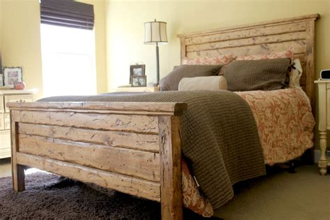 wooden king headboards king reclaimed wood headboard and footbaord
