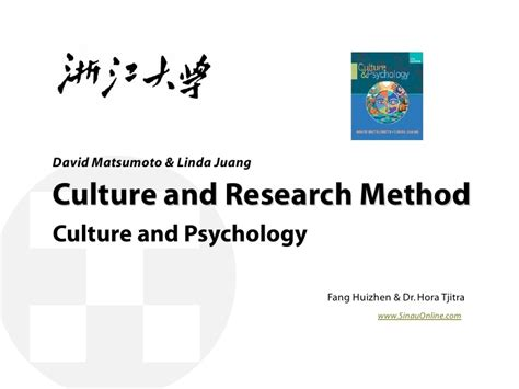 culture and psychology culture and research method in psychology