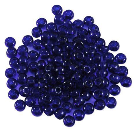 seed beading preciosa seed bead 6 0 transparent cobalt blue 10