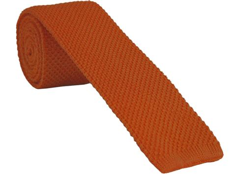 knitted orange tie orange ties with free and fast uk delivery