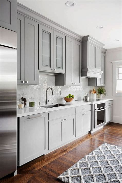 grey painted kitchen cabinets best 25 gray kitchen cabinets ideas only on