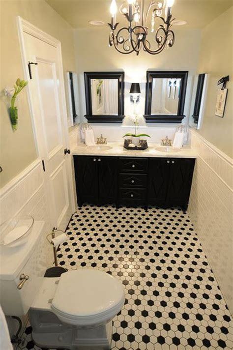 White And Black Bathrooms by 40 Black And White Bathroom Floor Tile Ideas And Pictures