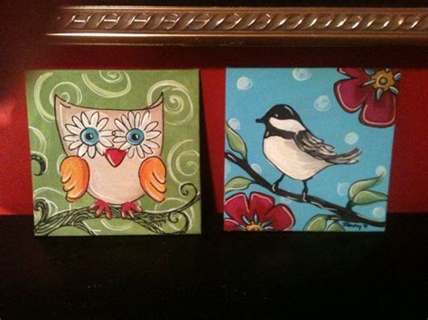 acrylic painting gift ideas ideas artsy birds