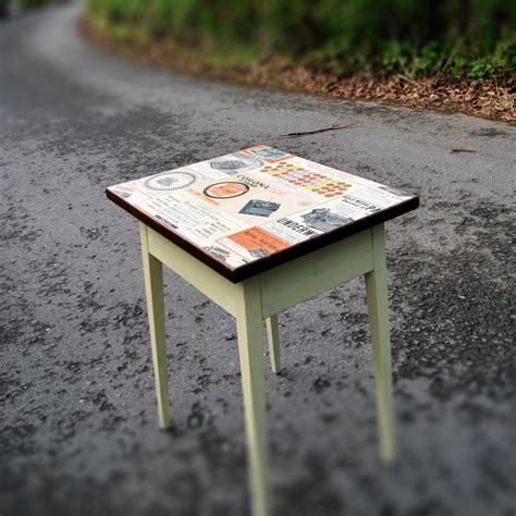 decoupage table small decoupage coffee table state of distress