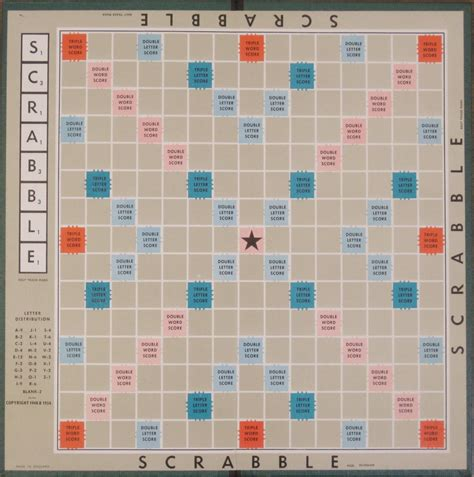 antique scrabble board vintage 1948 scrabble board only choose colour or
