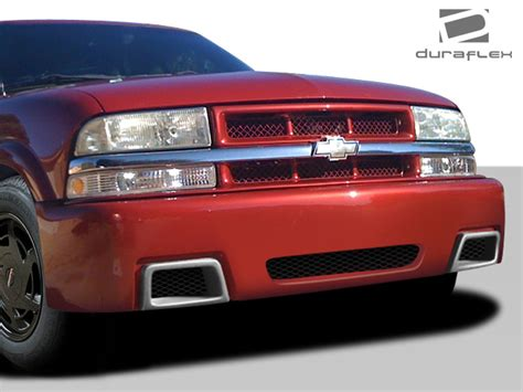custom front and rear bumpers for s10 blazers blazer duraflex s10 ss look front bumper kit 1 pc for