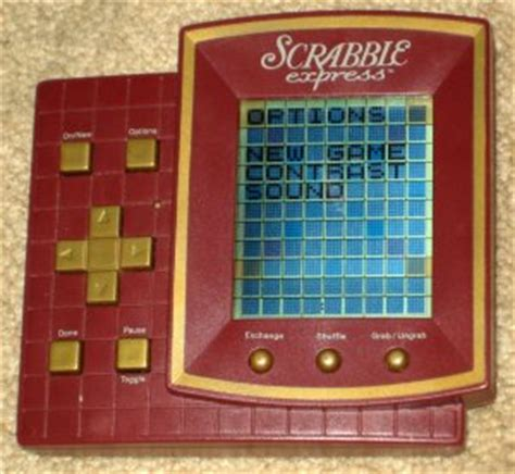 electronic scrabble board sold scrabble express handheld travel electronic