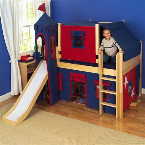 boy bunk bed with slide white wooden bunk bed with slide
