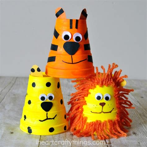 cheetah crafts for adorable foam cup tiger craft i crafty things
